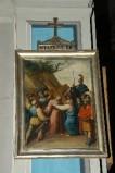 Ambito piacentino metà sec. XIX, Cornice di Via Crucis con croce 4/14
