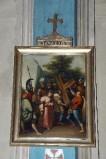 Ambito piacentino metà sec. XIX, Cornice di Via Crucis con croce 5/14
