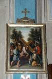 Ambito piacentino metà sec. XIX, Cornice di Via Crucis con croce 6/14