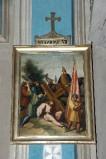Ambito piacentino metà sec. XIX, Cornice di Via Crucis con croce 7/14