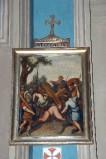 Ambito piacentino metà sec. XIX, Cornice di Via Crucis con croce 9/14