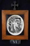 Ambito romano sec. XVIII, Cornice Gesù Cristo asciugato dalla Veronica