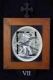 Ambito romano sec. XVIII, Cornice Gesù Cristo cade la seconda volta