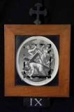 Ambito romano sec. XVIII, Cornice Gesù Cristo cade la terza volta