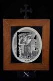 Ambito romano sec. XVIII, Cornice Gesù Cristo spogliato e abbeverato di fiele