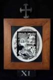 Ambito romano sec. XVIII, Cornice Gesù Cristo inchiodato alla croce