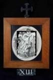 Ambito romano sec. XVIII, Cornice Gesù Cristo deposto dalla croce