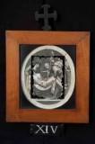 Ambito romano sec. XVIII, Cornice Gesù Cristo deposto nel sepolcro