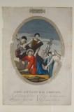 Agricola L. - Bellavitis G. sec. XIX, Via crucis con Gesù aiutato dal cireneo