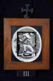Ambito romano sec. XVIII, Cornice Gesù Cristo cade la prima volta