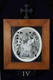 Ambito romano sec. XVIII, Cornice Gesù Cristo incontra le pie donne