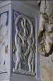 Agostino di Duccio (1449-1456), Bassorilievo angeli reggifestone