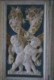 Agostino di Duccio (1449-1456), Bassorilievo angeli con cornucopie