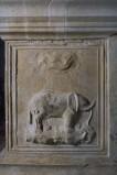 Agostino di Duccio (1449-1456), Bassorilievo con elefante