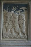 Agostino di Duccio (1454-1457), Quattro putti con fruste al gioco del cavallo