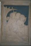 Agostino di Duccio (1454-1457), Tre putti cavalcano uno squalo