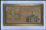 Achilli G. (1773), Disegno della pianta della chiesa di Saludecio