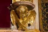 Bott. lucchese sec. XIX, Mensola in bronzo dorato raffigurante un cherubino 2/2