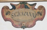 Bott. italiana fine sec. XVI-inizio sec. XVII, Targa in legno sagomato 11/12