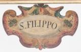 Bott. italiana fine sec. XVI-inizio sec. XVII, Targa in legno sagomato 9/12