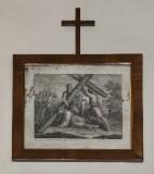 Ambito italiano sec. XIX, Stampa di Gesù cade la seconda volta