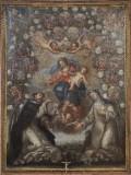 Bottega toscana sec. XVII, Cornice del dipinto della Madonna del rosario