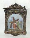 Ambito italiano sec. XX, Via Crucis di Gesù caricato della croce