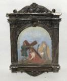 Ambito italiano sec. XX, Via Crucis di Gesù che cade la prima volta