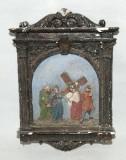 Ambito italiano sec. XX, Via Crucis di Gesù che incontra la Madonna