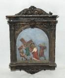 Ambito italiano sec. XX, Via Crucis di Gesù aiutato dal cireneo