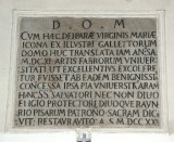 Bottega toscana (1722), Lapide incisa
