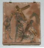 Ambito toscano sec. XX, Via Crucis di Gesù caricato della croce