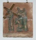 Ambito toscano sec. XX, Via Crucis di Gesù che incontra la madonna