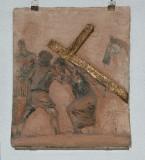 Ambito toscano sec. XX, Via Crucis di Gesù aiutato dal cireneo