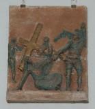 Ambito toscano sec. XX, Via Crucis di Gesù che cade la terza volta