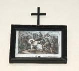 Ambito francese sec. XX, Stampa di Gesù che cade la prima volta