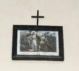 Ambito francese sec. XX, Stampa di Gesù aiutato dal cireneo