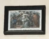 Ambito francese sec. XX, Stampa di Gesù asciugato dalla Veronica