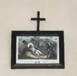 Ambito francese sec. XX, Stampa di Gesù che cade la seconda volta