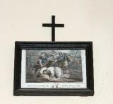 Ambito francese sec. XX, Stampa di Gesù che cade la terza volta