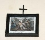 Ambito francese sec. XX, Stampa di Gesù spogliato e abbeverato di fiele