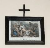 Ambito francese sec. XX, Stampa di Gesù inchiodato alla croce