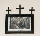 Ambito francese sec. XX, Stampa di Gesù morto in croce