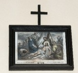 Ambito francese sec. XX, Stampa di Gesù deposto dalla croce