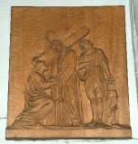 Belluomini A. sec. XX, Scultura di Gesù asciugato dalla Veronica