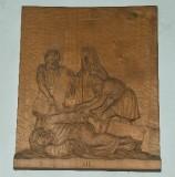 Belluomini A. sec. XX, Scultura di Gesù che cade la seconda volta