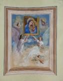 Ambito toscano sec. XIX, Dipinto murale della Madonna del buon consiglio