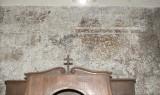 Ambito pisano sec. XIII, Dipinto murale con cornice
