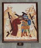Ambito italiano sec. XXI, Dipinto di Gesù caricato della croce