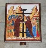 Ambito italiano sec. XXI, Dipinto di Gesù che incontra la Madonna